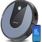 Aspirateur Robot, Connecté Wi-Fi et Alexa, Deenkee Robot Aspirateur Super Fin Silencieux avec Forte Puissance d'Aspiration,Navigation Intelligente, Parfaite pour Poils d'Animaux, Sol Dur, Tapis - Home Robots