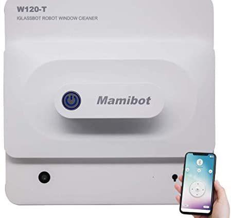mamibot Nettoyeur de Robot Nettoyeur de Vitres W120-T Robot Nettoyeur Automatique avec Laveuse Robotique Aspirante 3000Pa avec Télécommande et APP Smartphone - Home Robots