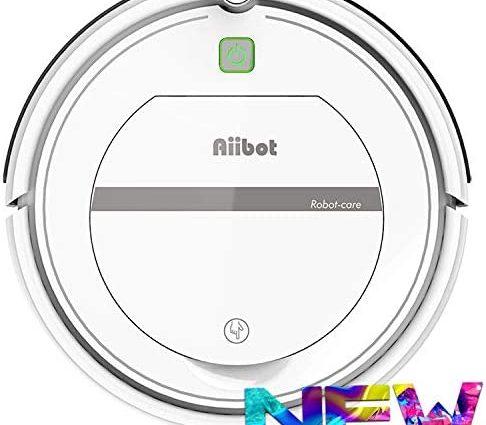AIIBOT Aspirateur Robot avec Un Système de Nettoyage en 3 Étapes, Capteur Anti-Chute Intelligent, Filtre HEPA, Applicable aux Appartements, Petites Maisons, Sols Durs et Tapis à Poils Courts - Home Robots