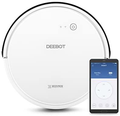 ECOVACS DEEBOT 600 – Aspirateur robot nettoyeur – Pour sols durs et tapis – Aspirateur sans fil programmable via smartphone et compatible avec Amazon Alexa - Home Robots