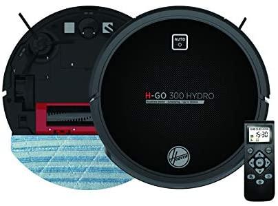 Hoover HGO320H Aspirateur Robot Nettoyeur et Laveur 2 en 1 Noir avec Graphisme - Home Robots