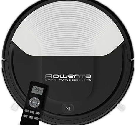 Rowenta, Aspirateur Robot, Programmable, Autonomie 2h30, Sols Durs, Tapis, Poils d'Animaux, Smart Force Essential RR6927WH - Home Robots
