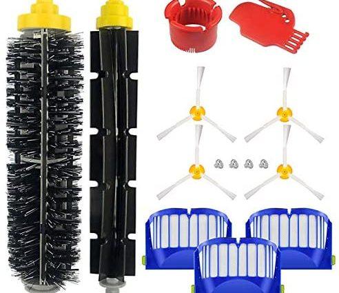 Kit Accessoires adaptés à la roomba série 600 605 610 614 616 620 621 625 630 635 640 650 660 665 670 671 676 680 681 690 691 695-15 pièces - Home Robots